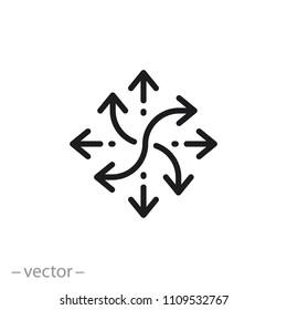 versatile icon, line sign - vector illustration eps10