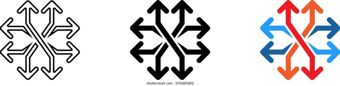 Versatile icon , vector illustration