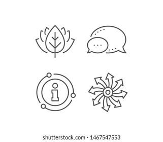 Versatile line icon. Chat bubble, info sign elements. Multifunction sign. Linear versatile outline icon. Information bubble. Vector