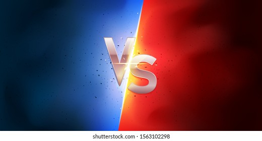 Versus background. Blue against Red. Red Vs Blue. Fight background.