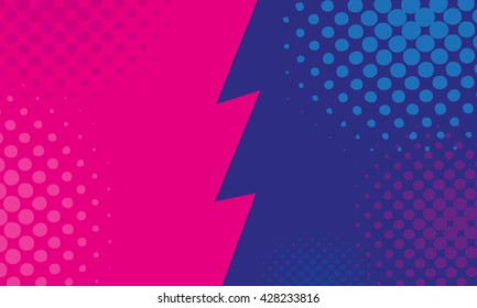 Versus backgrounds comics style design. Vector illustration