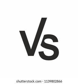 Versus icon vs letters logo. Vector