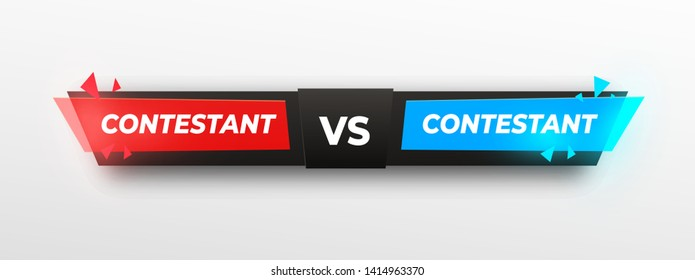 Versus Logo, sreen design. VS Vector Letters Illustration. Red, yellow and blue in black background. Competition Icon. Fight Symbol.tringle. shining effect. Vector illustration