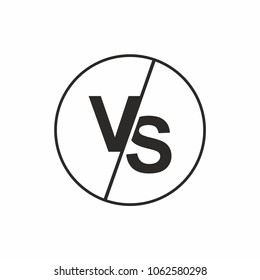Versus logo vs letters for sports, fight icon. Vector