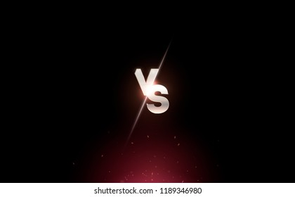 versus logo vs letters for sports and fight competition. MMA, UFS, Battle, vs match, game concept competitive vs. eps 10 Vector illustration