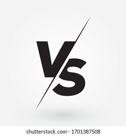 Versus logo. VS letters for sports, fight, competition, battle, match, game. Vector icon.