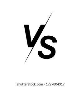 Versus logo. VS letters for sports, fight, competition. Stock vector icon