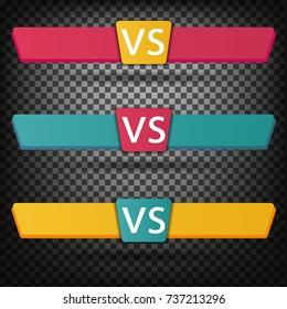 Versus Logo. VS Vector Letters Illustration. Competition Icon. Fight Symbol.