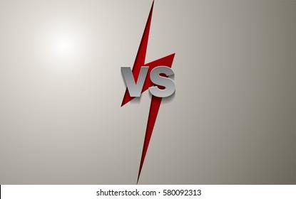 Versus Screen Background, Vector Illustration.