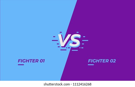 Versus screen design. Battle headline template. Fllat modern design. Vector illustration