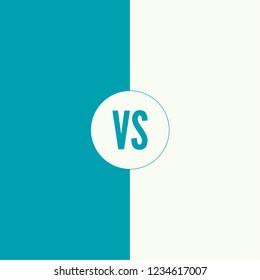 Versus screen design. VS Vector Letters Illustration.