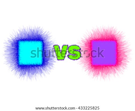 versus screen template layered style vector stock vector royalty