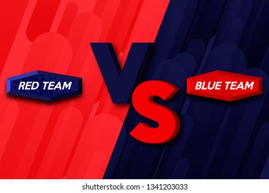 Versus screen. VS abstract background. Versus logo vs letters for sports and fight competition. Vector illustration.