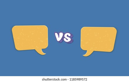 versus template vs screen empty space stock vector royalty free