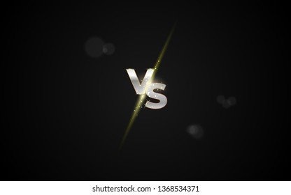 Versus vs background, Battle vs match, game concept competitive vs. VS gold sign. Vector illustration eps 10 Vector illustration .