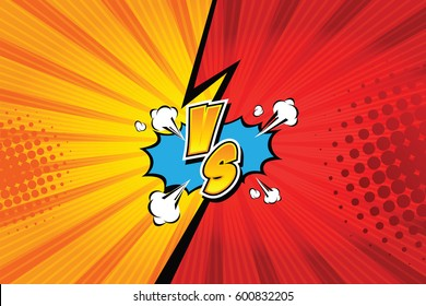 Versus. vs. Fight backgrounds comics style design. Vector illustration.