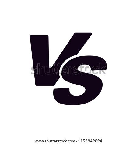Versus vs icon vector