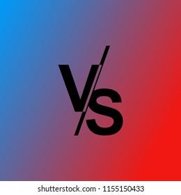 Versus VS letters