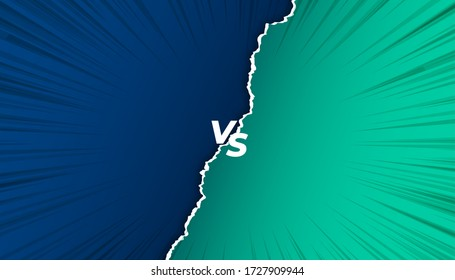 versus vs screen background in torn paper style
