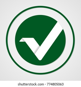 Vertcoin cryptocurrency. Vector sign icon. Internet money