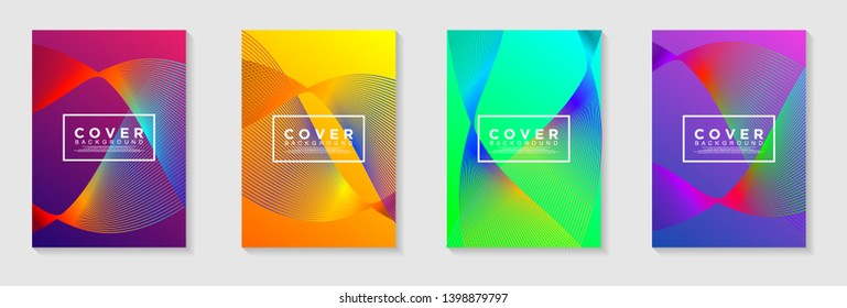 vertical A4 banners. Cover Design with Abstract modern Background Vector Illustration for cover, banner, business card, presentation, print, brochure, poster, flyer, web, landing page