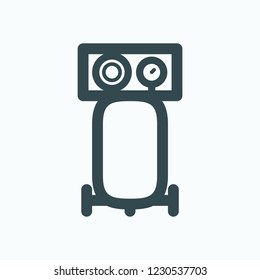 Vertical air compressor vector icon