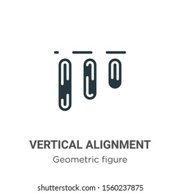 Vertical alignment vector icon on white background. Flat vector vertical alignment icon symbol sign from modern geometric figure collection for mobile concept and web apps design.
