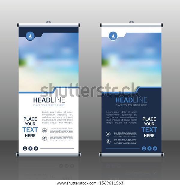 Vertical Banner Design Signboard Advertising Brochure Stock Vector Royalty Free 1569611563