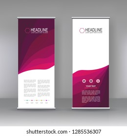 Vertical banner stand template design, infographics, Modern Flag Banner Design. Cover, Annual Report, Magazine,Poster, Corporate Presentation, Flyer, Website. vector abstract geometric background