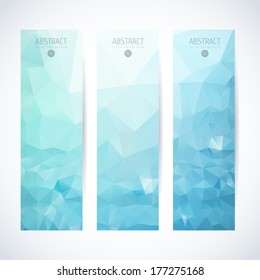 Vertical banner vector set