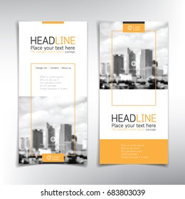 Vertical banner vector template, can be used for brochure, flyer, roll up ads and more