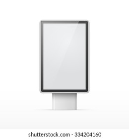 Vertical blank outdoor Lightbox