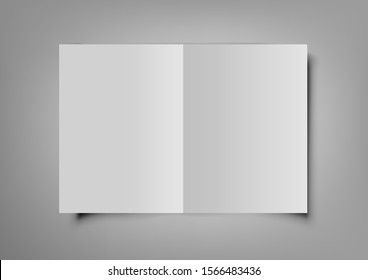 Vertical Booklet, Brochure Or Invitation Card Isolated On Grey. EPS10 Vector