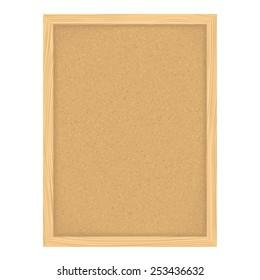 Vertical bulletin board, vector eps10 illustration