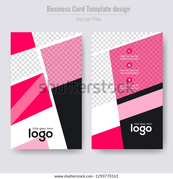 vertical business card abstract background vector stock