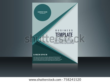 Vertical Business Card Print Template Personal Stock Vector (Royalty ...
