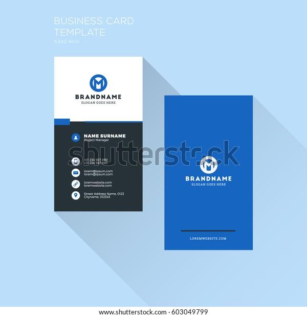 Vorlage Für Vertikale Visitenkarten Persönliche
