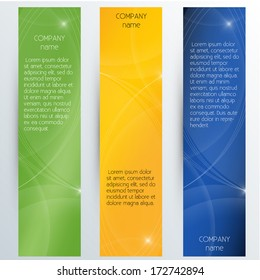 Vertical Corporate Banners - Vector EPS10