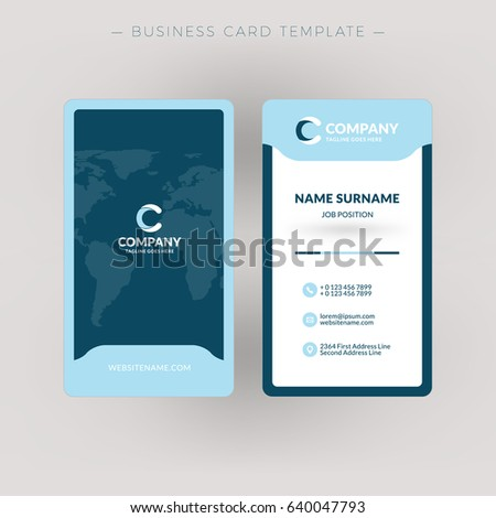 Vertical doublesided business card template vector stock vector vertical double sided business card template vector illustration stationery design fbccfo Image collections