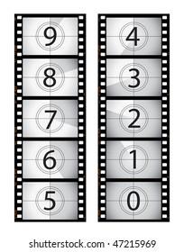 Vertical film countdown