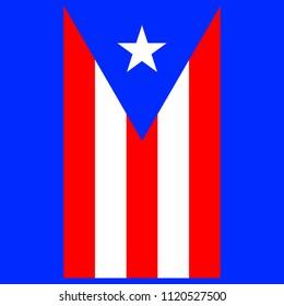 Vertical flag of Puerto Rico. Vector EPS 10