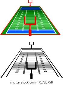 A vertical football field.