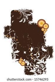 A vertical geometric brown grunge pattern