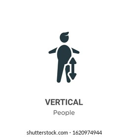 Vertical glyph icon vector on white background. Flat vector vertical icon symbol sign from modern people collection for mobile concept and web apps design.