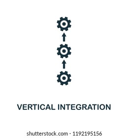 Vertical Integration icon. Simple style design from industry 4.0 collection. UX and UI. Pixel perfect premium vertical integration icon. For web design, apps and printing usage.