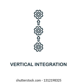 Vertical Integration icon. Thin line style industry 4.0 icons collection. UI and UX. Pixel perfect vertical integration icon for web design, apps, software usage