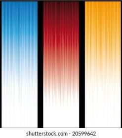 Vertical light banners