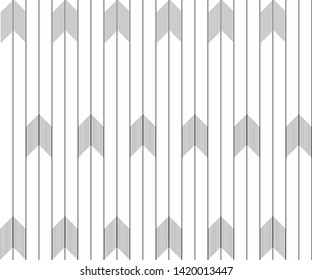 Vertical lines with chevron. Design random black on white background. Design print for pattern, textile, wallpaper, background, illustration. Set 4