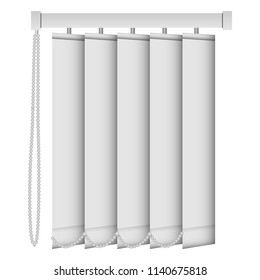 Vertical louver mockup. Realistic illustration of vertical louver vector mockup for web design isolated on white background