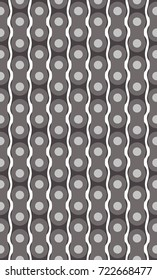 Vertical motorcycle chain. Seamless vector pattern on a transparent background